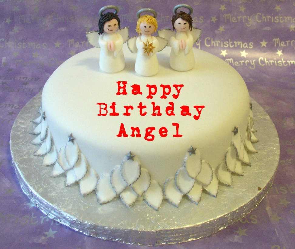 10 Unique Birthday Cakes For Women With Angels Photo Angel Wings