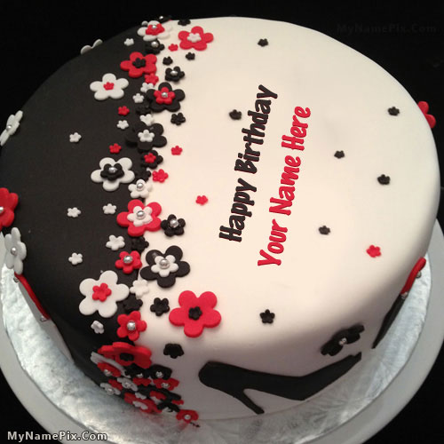 12 Elegant Birthday Cakes With Names Photo Happy Birthday Cake