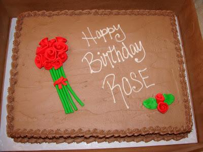Happy Birthday Rose Cake