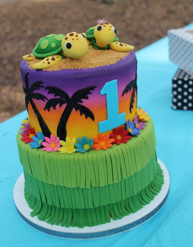 Wondrous 12 Hawaiian Themed Cakes Photo Hawaiian Theme Cake Ideas Funny Birthday Cards Online Fluifree Goldxyz