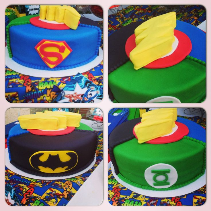 Miraculous 10 Justice League Cake And Cupcakes Photo Justice League Funny Birthday Cards Online Kookostrdamsfinfo