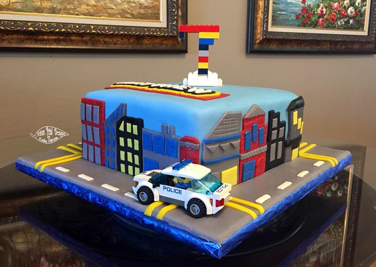 11 Lego Food City Birthday Cakes Photo Lego Police Birthday Party