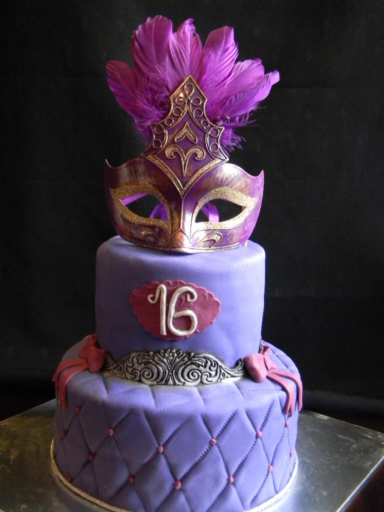Cool 10 Masquerade Theme Cakes Photo Masquerade Birthday Party Cake Funny Birthday Cards Online Alyptdamsfinfo