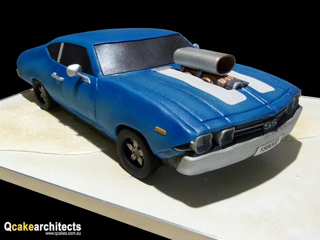 12 Chevy Car Cakes For Men Photo Muscle Car Birthday Cake