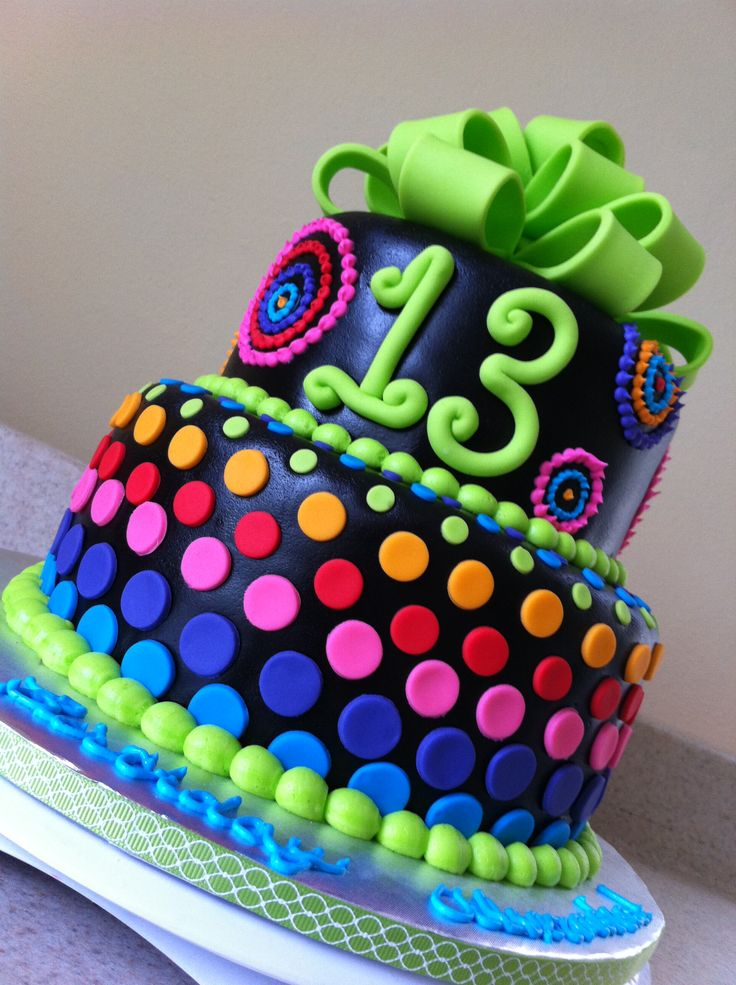 Marvelous 11 Cool Cakes For Girls Photo Neon Girl Birthday Cake Ideas Funny Birthday Cards Online Alyptdamsfinfo