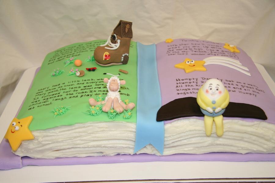 Nursery Rhymes Baby Shower Cake