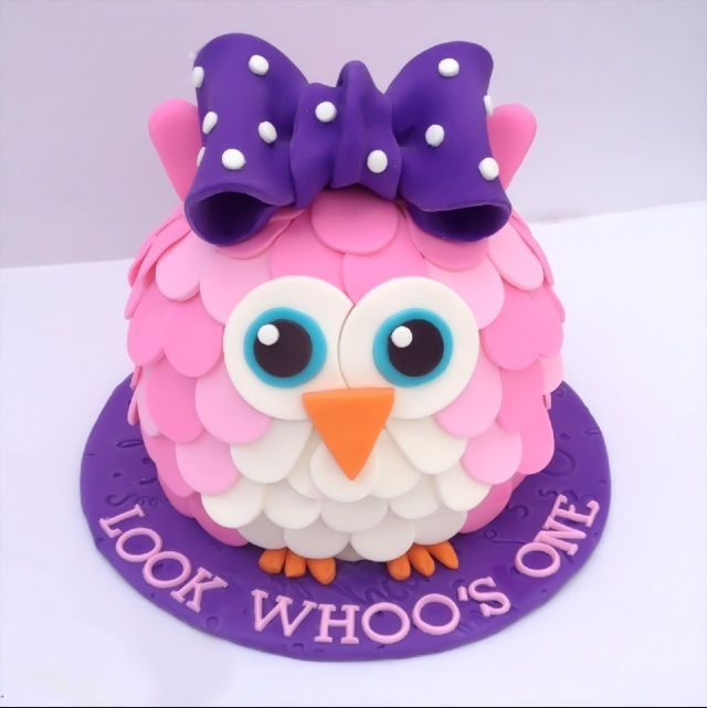 Remarkable 12 Owl First Birthday Cakes For Girls Photo Owl First Birthday Funny Birthday Cards Online Fluifree Goldxyz