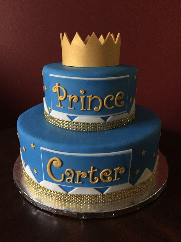 Prince First Birthday Cake Via Baby Boy Cakes