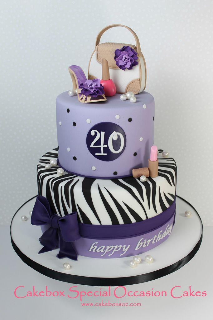 Women 40th Birthday Cake
