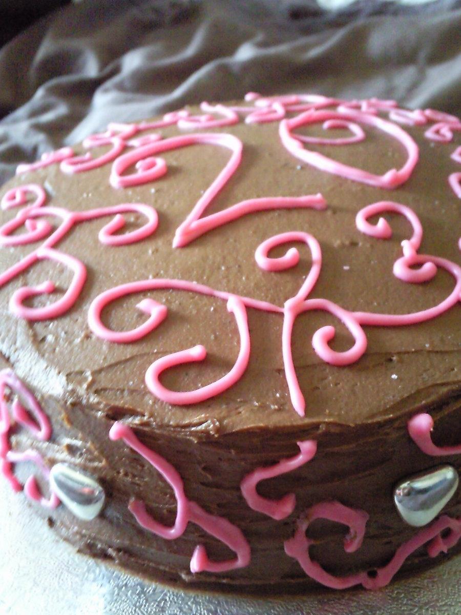 10 20th Chocolate Birthday Cakes Photo