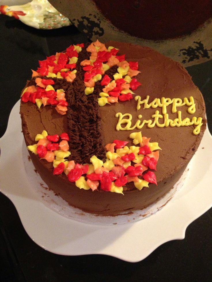 Image result for autumn birthdaycake photos