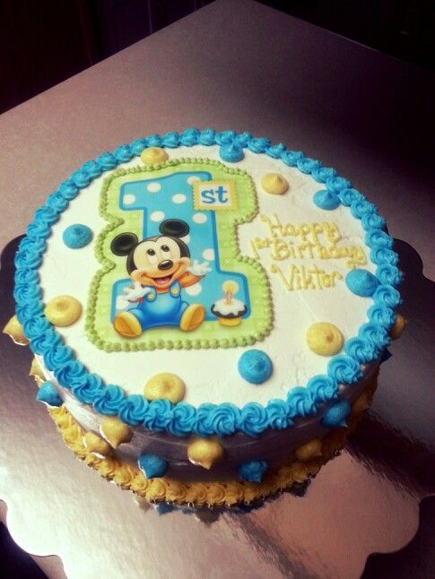Miraculous 13 1St Baby Mickey Mouse Cakes Photo Baby Mickey Mouse Cake Funny Birthday Cards Online Alyptdamsfinfo