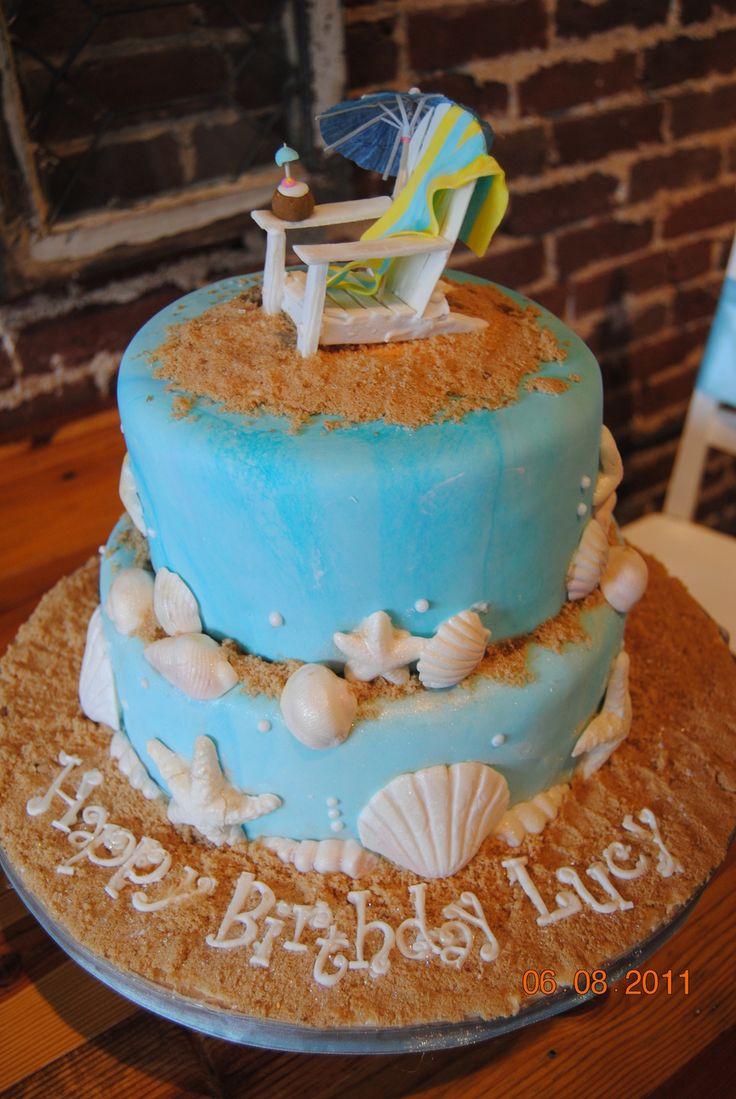 Groovy 7 Cute Cakes For The Beach Photo Beach Theme Birthday Cake Ideas Funny Birthday Cards Online Necthendildamsfinfo