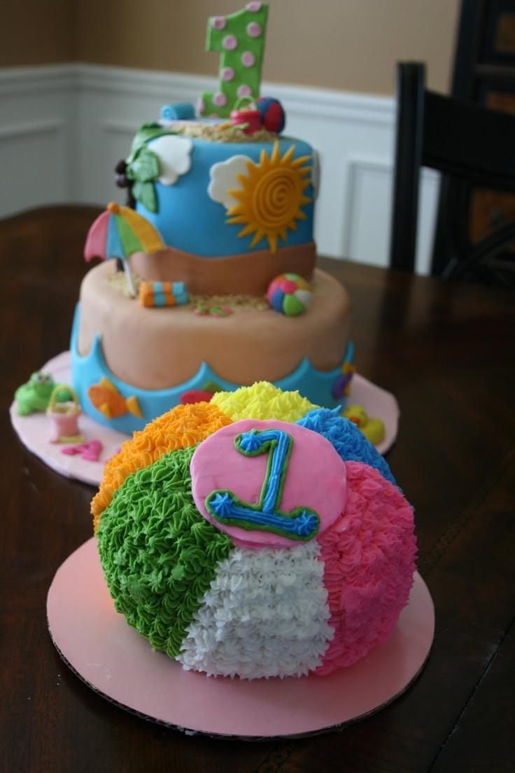 Beach Themed Birthday Party Cake