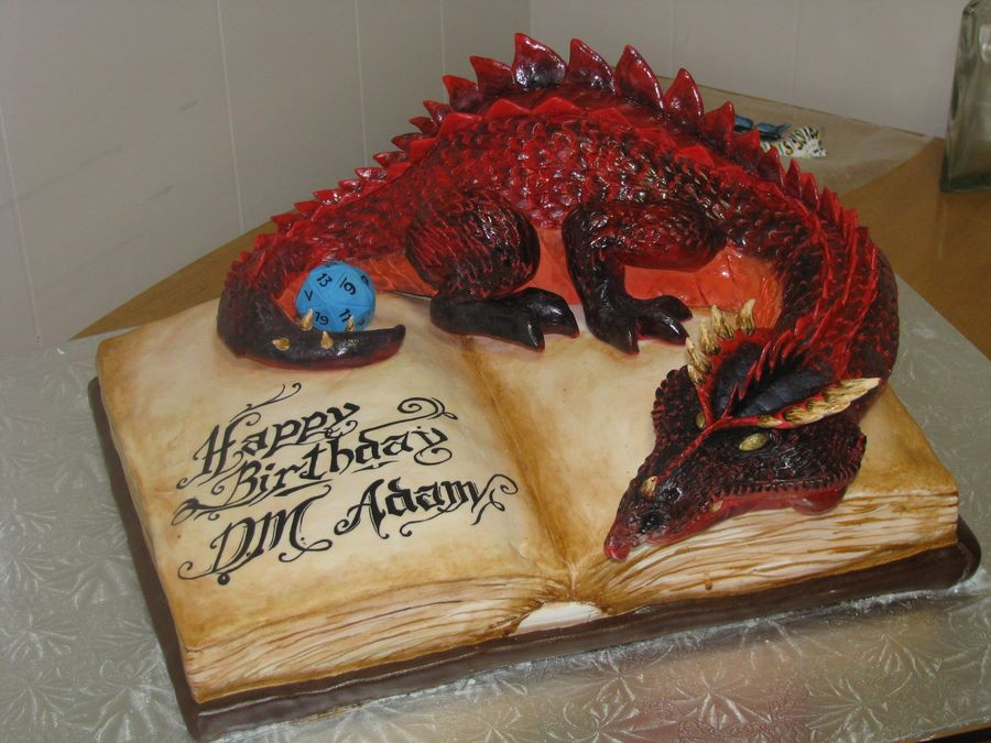 Awe Inspiring 6 Nerdy Birthday Cakes Photo Dungeons And Dragons Cake Nerdy Funny Birthday Cards Online Inifofree Goldxyz