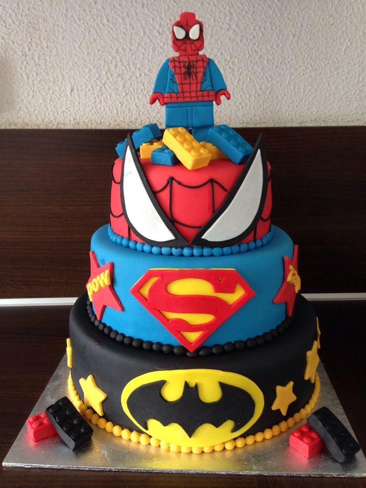 12 Jason Superhero Birthday Cakes Photo Robin Superhero Birthday
