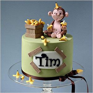 Swell 13 Cute Monkey Theme Cakes Photo Girl Monkey Birthday Party Cake Personalised Birthday Cards Xaembasilily Jamesorg