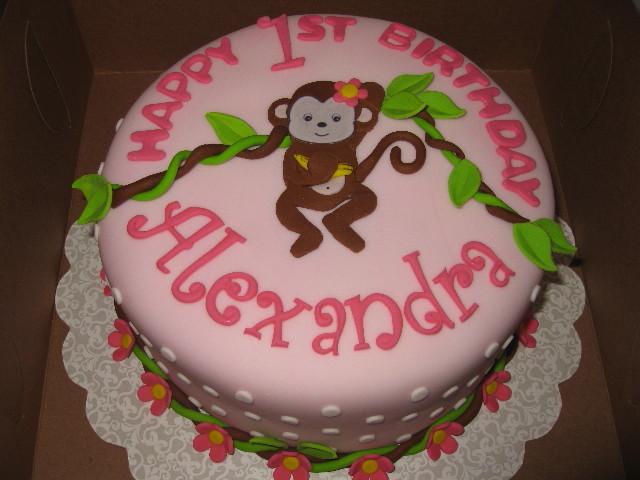 Prime 10 Monkey First Birthday Cakes For Girls Photo Monkey 1St Personalised Birthday Cards Veneteletsinfo