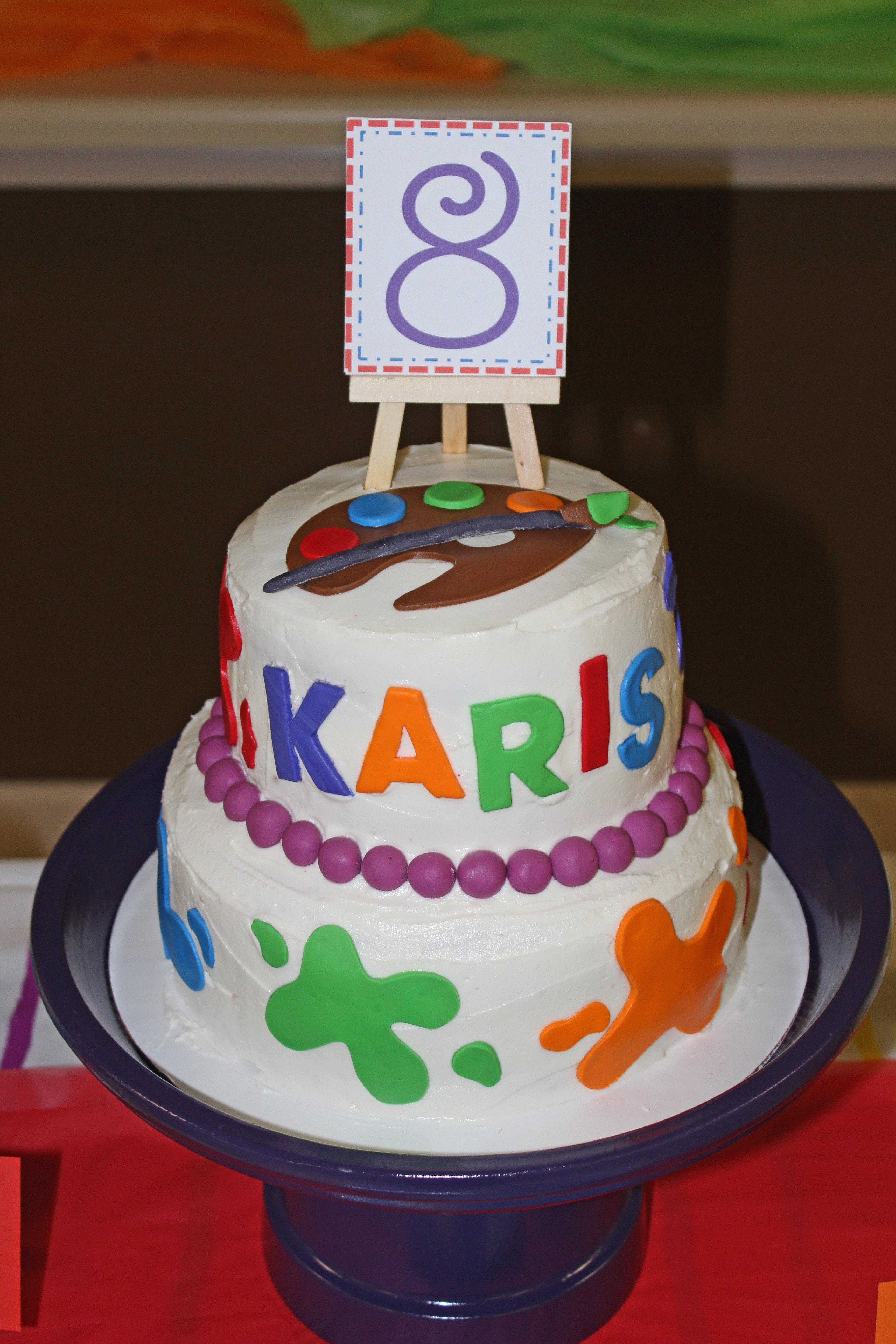 Large Art Themed Birthday Cakes Photo Cake Ideas Jpg 3456x5184 Party