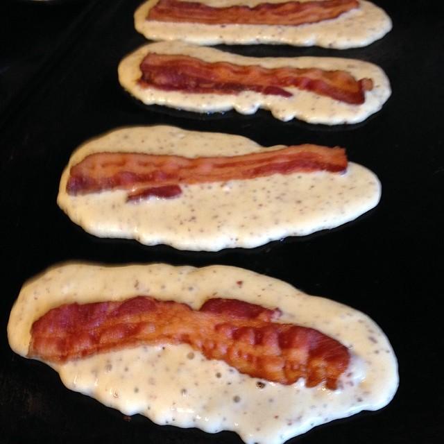 10 bacon dipped pancakes photo bacon stuffed pancake dippers pancake bacon dippers ccuart Gallery