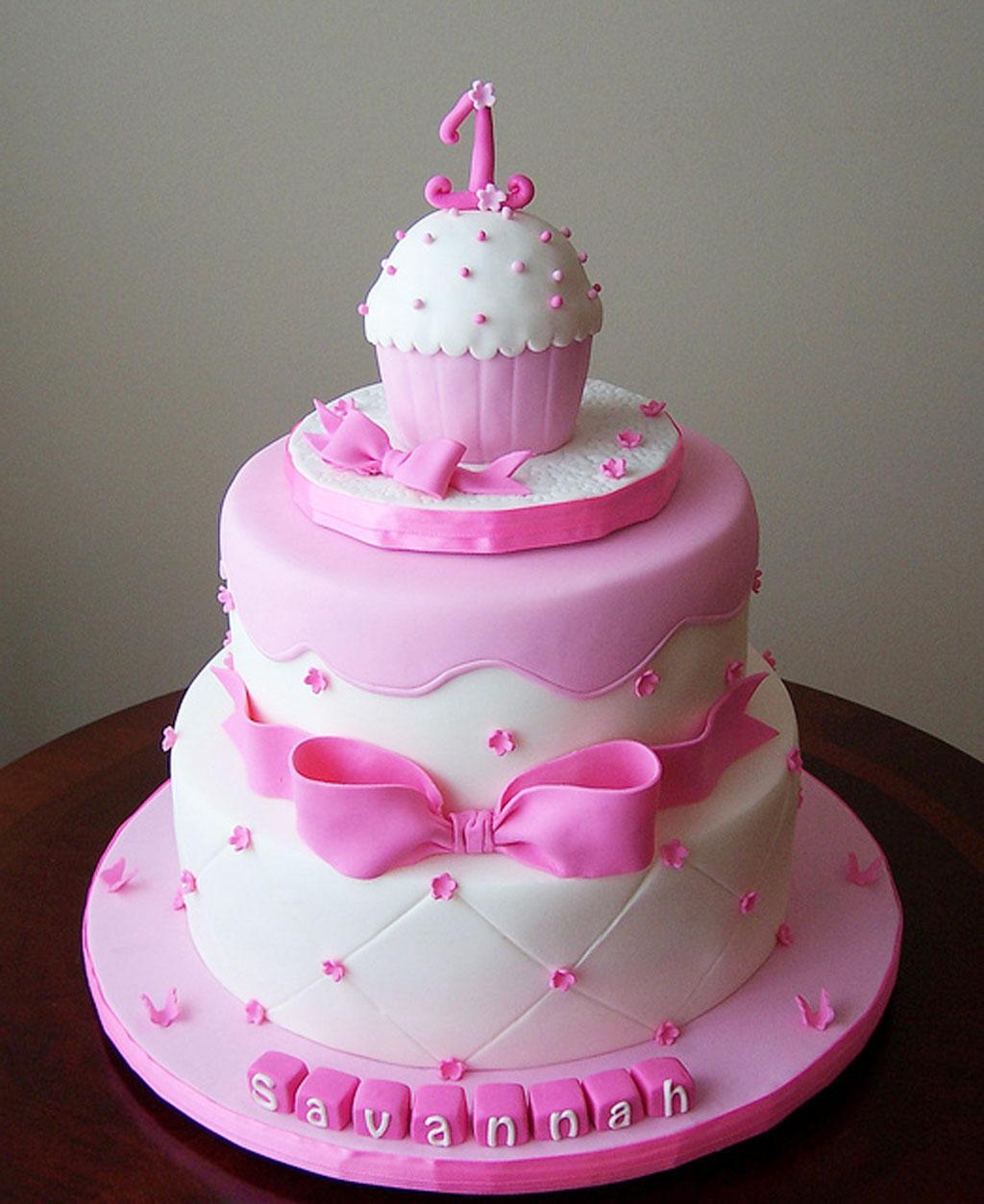 Remarkable 9 Girl First Birthday Cupcakes Photo Pink 1St Birthday Cake Funny Birthday Cards Online Alyptdamsfinfo
