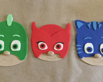 7 PJ Mask Cat Boy Head Cupcakes Photo