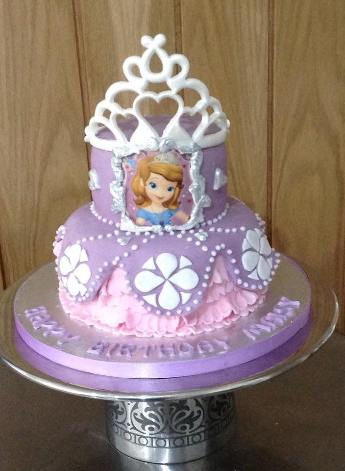Pleasant 8 Pink Birthday Cakes Sophia Photo Sofia The First Birthday Cake Funny Birthday Cards Online Fluifree Goldxyz