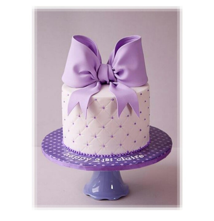 Surprising 8 Cakes On Top With Bows Photo Purple Cake With Bow Wedding Personalised Birthday Cards Epsylily Jamesorg
