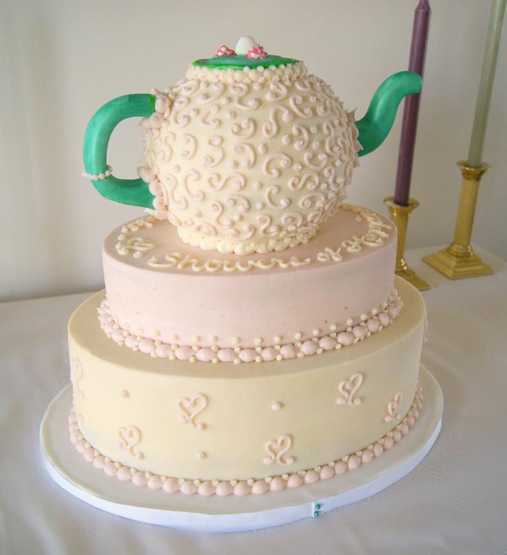 teapot bridal shower cake