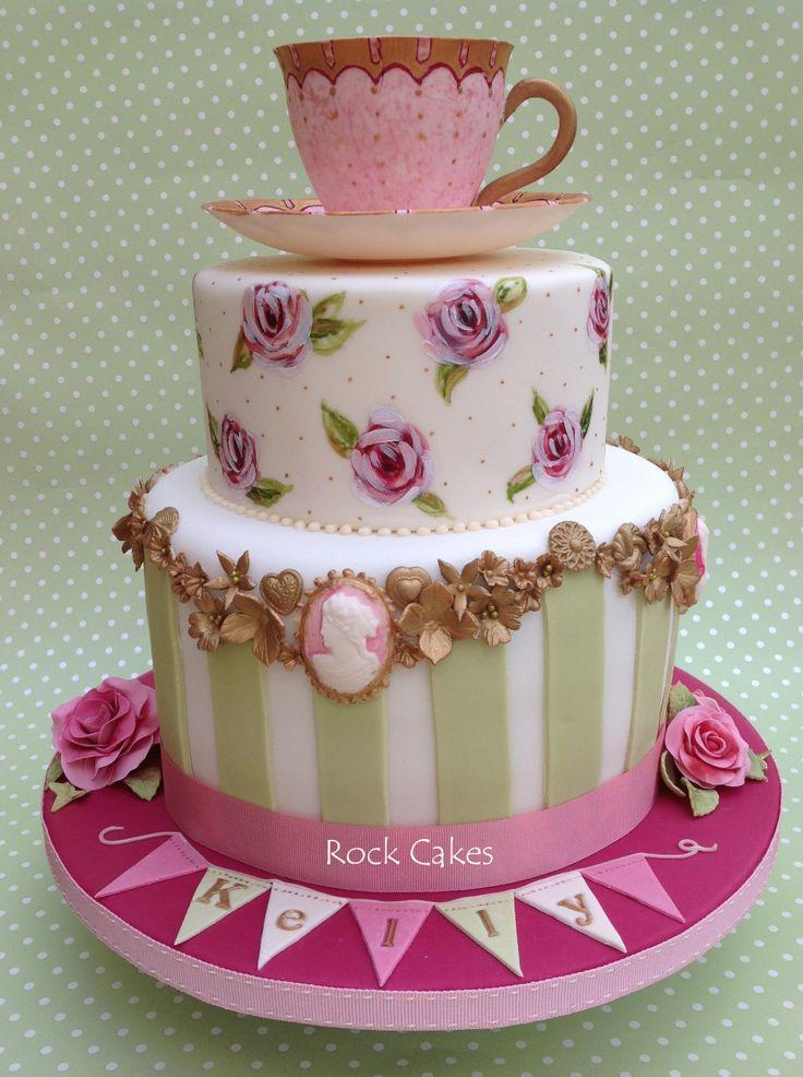 7 Vintage Party Cakes Photo Vintage Tea Party Birthday Cake Alice