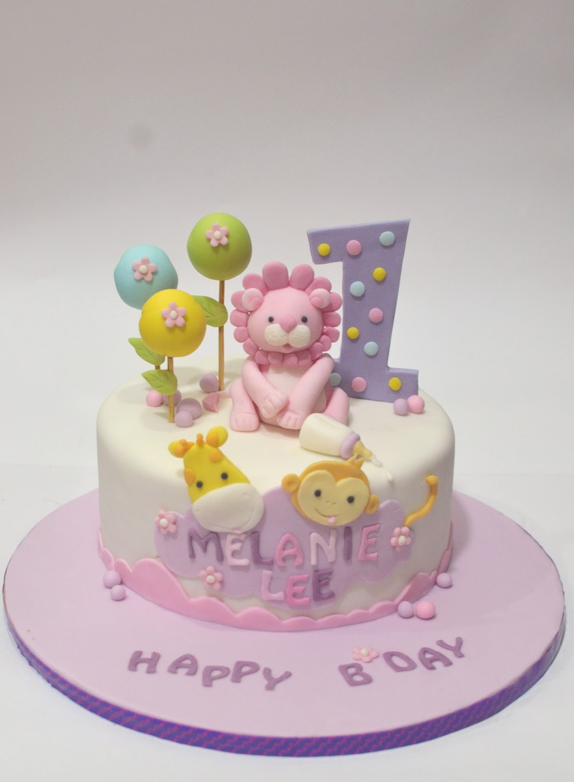 Collections Of Birthday Cake For 1 Year Old Girl