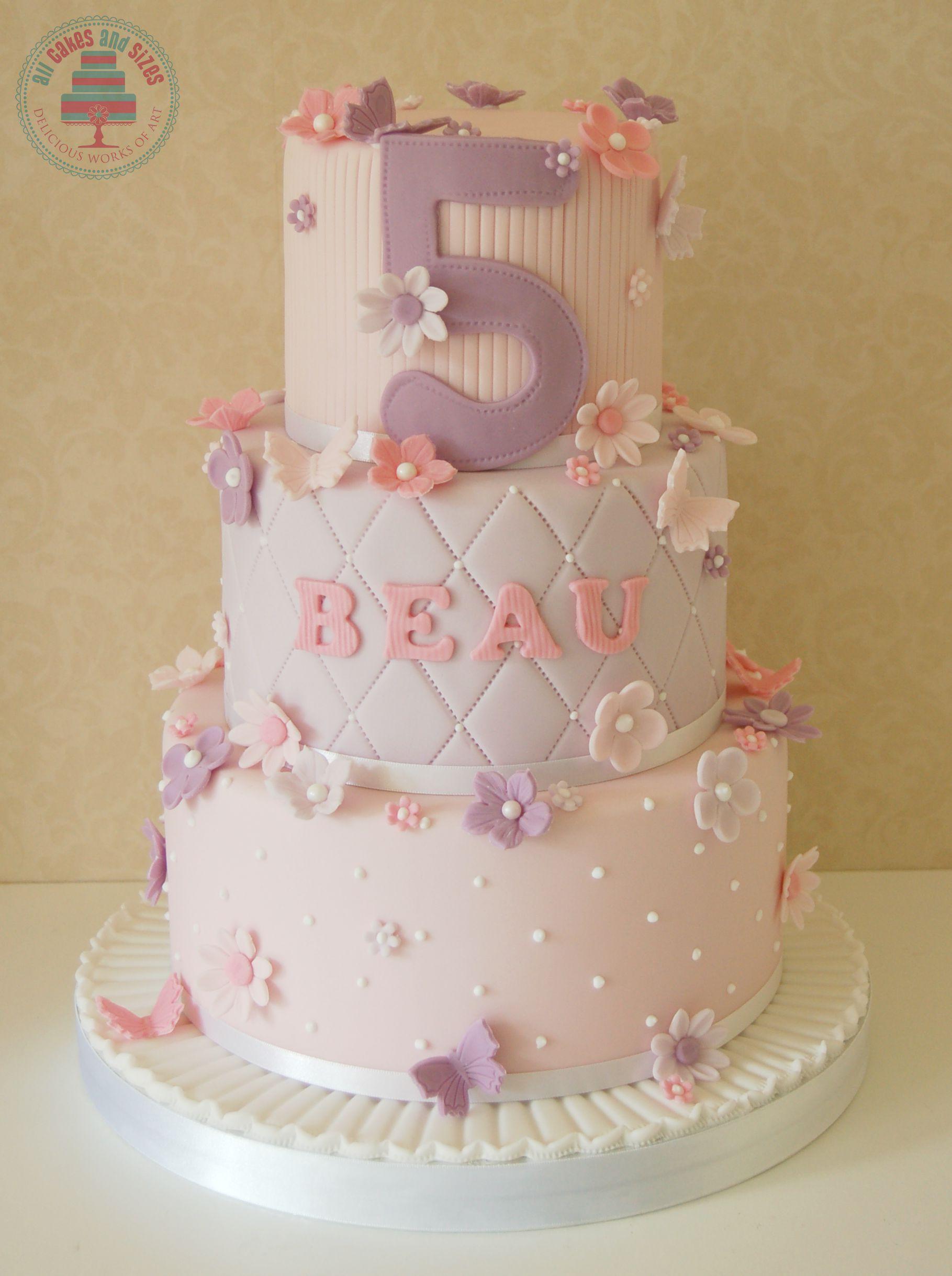 11 3 Tier Pink Birthday Cakes Photo Pink Tier Birthday Cake 3
