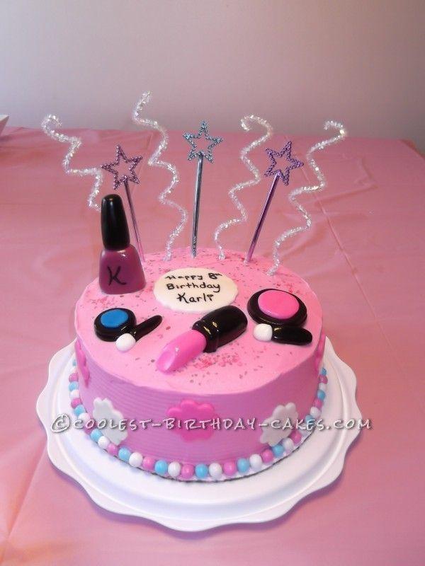 7 Makeup Birthday Cakes For Girls Photo , Make Up Cake