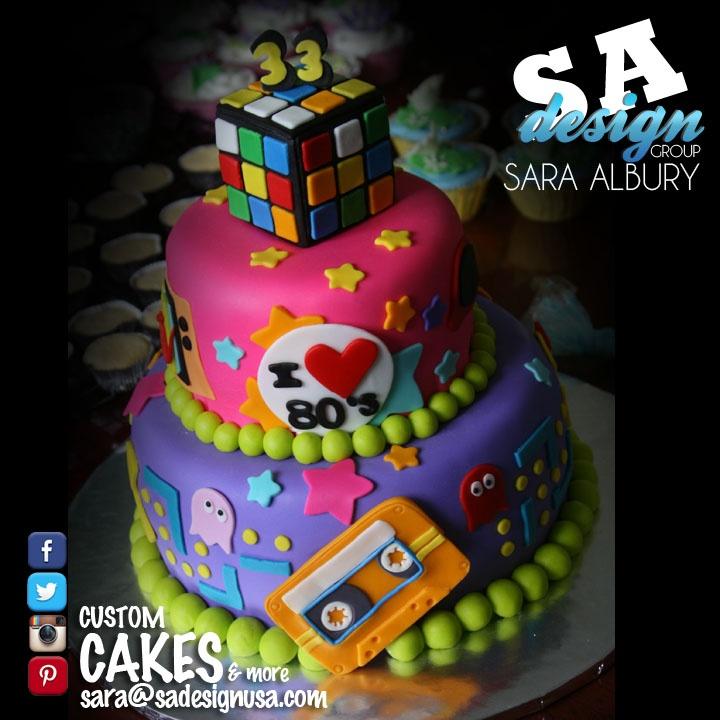 10 80 S Themed Birthday Cakes Photo