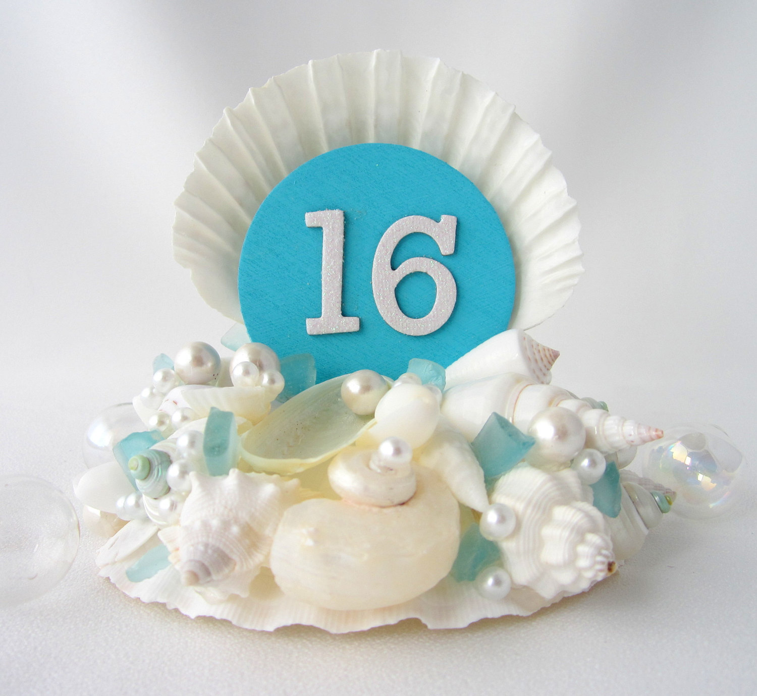 11 Seashell Cake Tops With Letter Cakes Photo Seashell Wedding