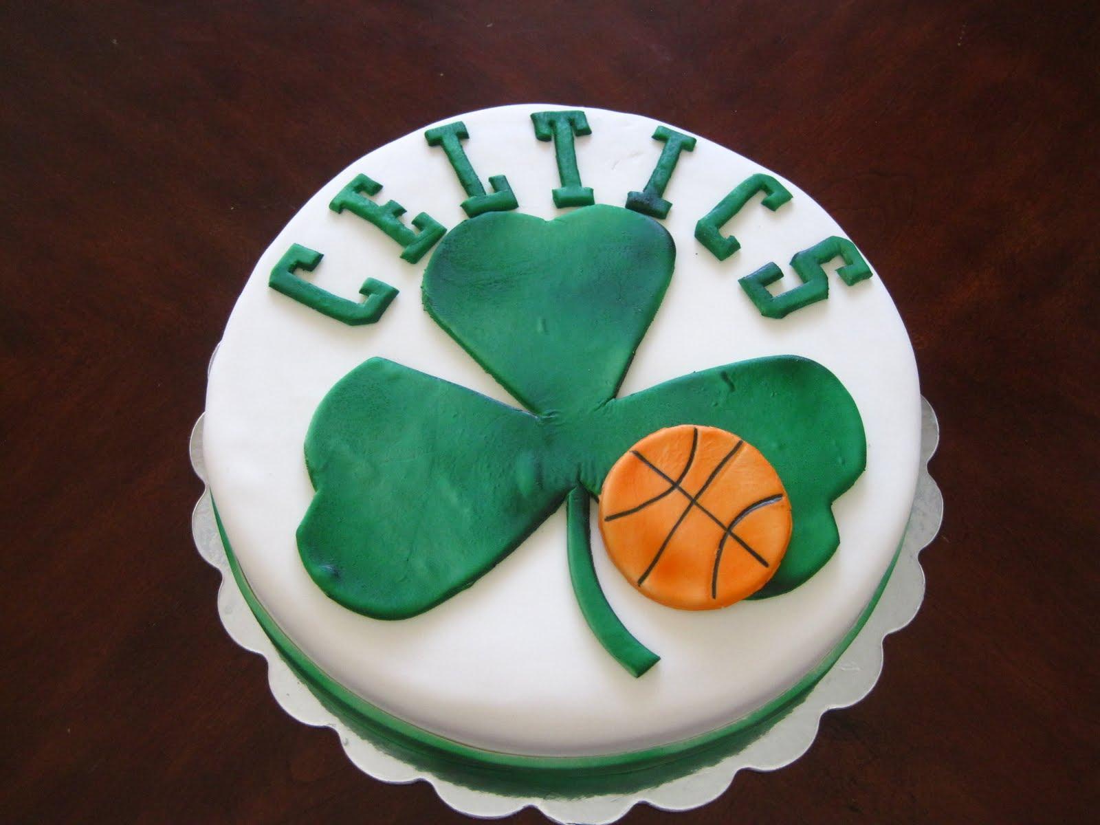 Boston Celtics Happy Birthday Cake