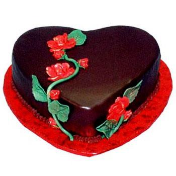 10 Birthday Chocolate Heart Cakes Photo Chocolate Birthday Cake