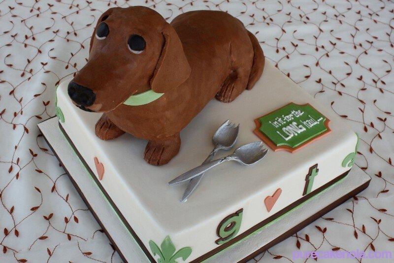 Pleasing 13 Dachshund Wedding Cakes Photo Dachshund Wedding Cake Toppers Funny Birthday Cards Online Unhofree Goldxyz