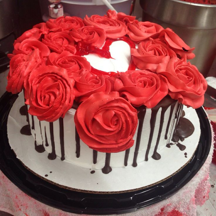 10 Cakes Decorated In Red Photo Happy Birthday Red Velvet Cake