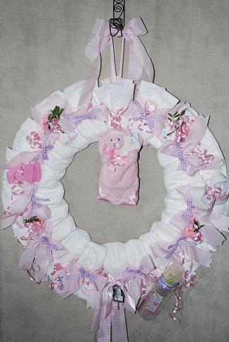 11 Baby Wreath Diaper Cakes Photo Baby Shower Diaper Wreath Baby