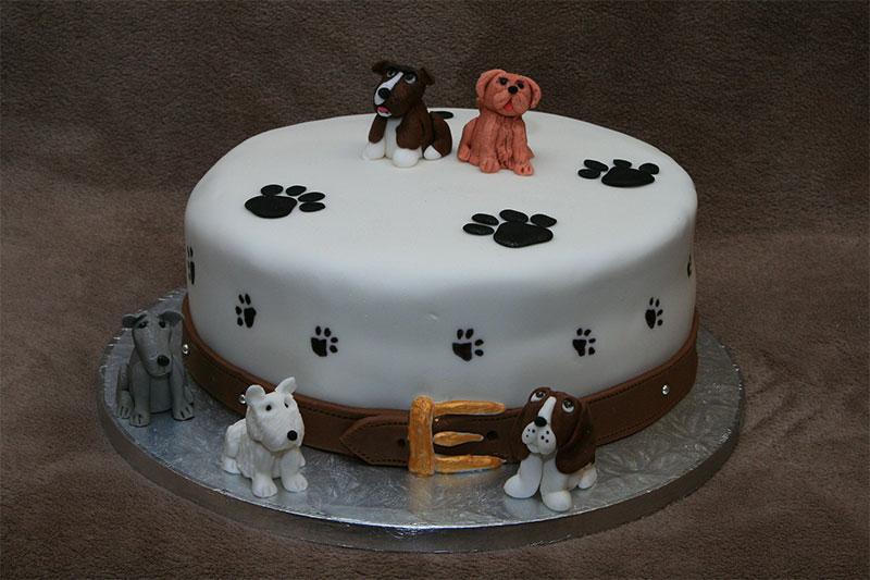 11 Birthday Cakes Shaped As Dog Photo Dog Shaped Birthday Cakes
