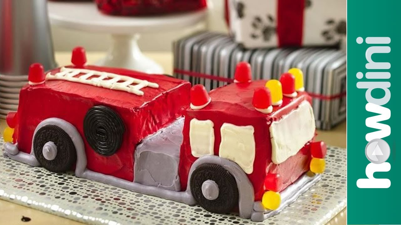 Pleasant 5 Easy Fire Truck Cakes Photo Fire Truck Birthday Cake Ideas Funny Birthday Cards Online Elaedamsfinfo