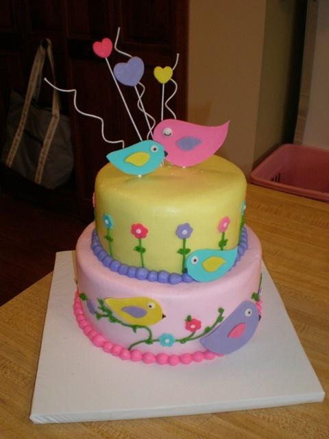 Awesome 12 Bird First Birthday Cakes Photo First Birthday Cake Birds Personalised Birthday Cards Cominlily Jamesorg