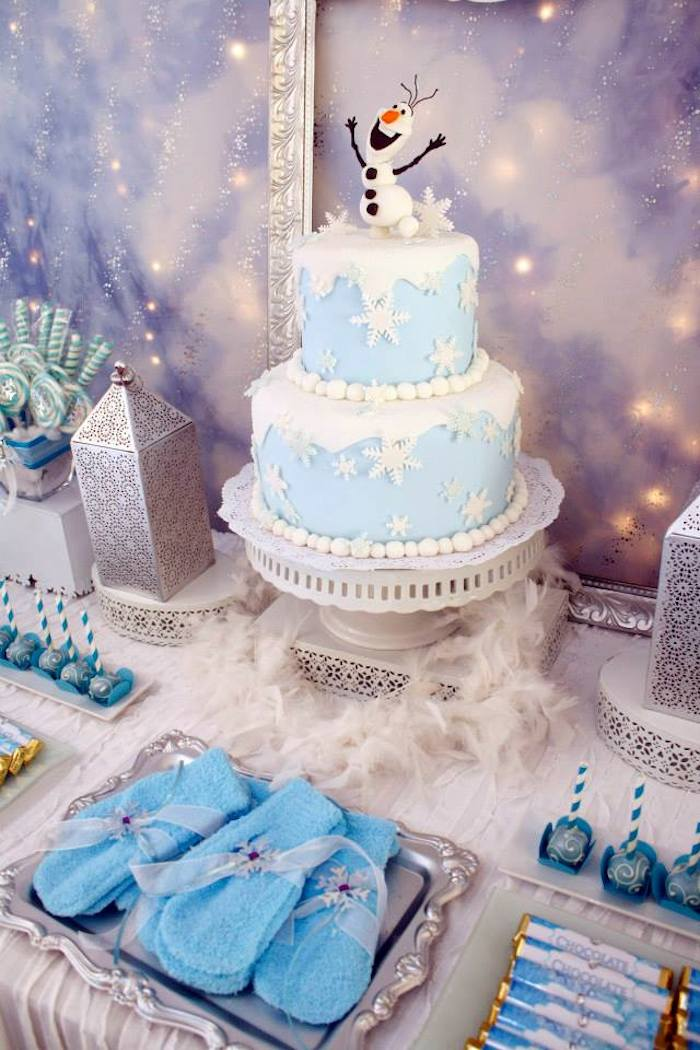 Awe Inspiring 12 Winter Wonderland Themed Birthday Cakes Photo Frozen Winter Funny Birthday Cards Online Elaedamsfinfo