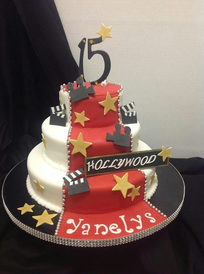 Stupendous 13 Hollywood Themed B Day Cakes Photo Hollywood Theme Birthday Funny Birthday Cards Online Elaedamsfinfo