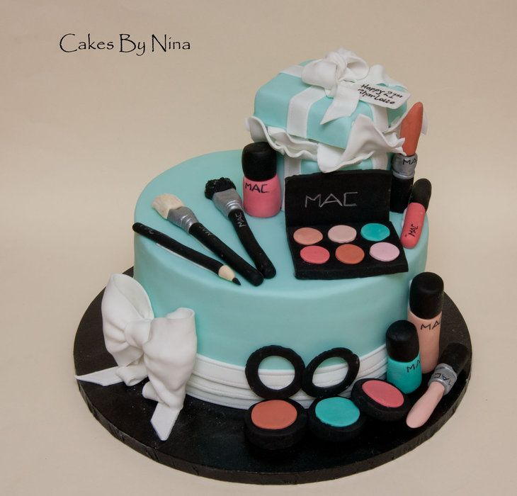 Happy Birthday Makeup Cake With Name