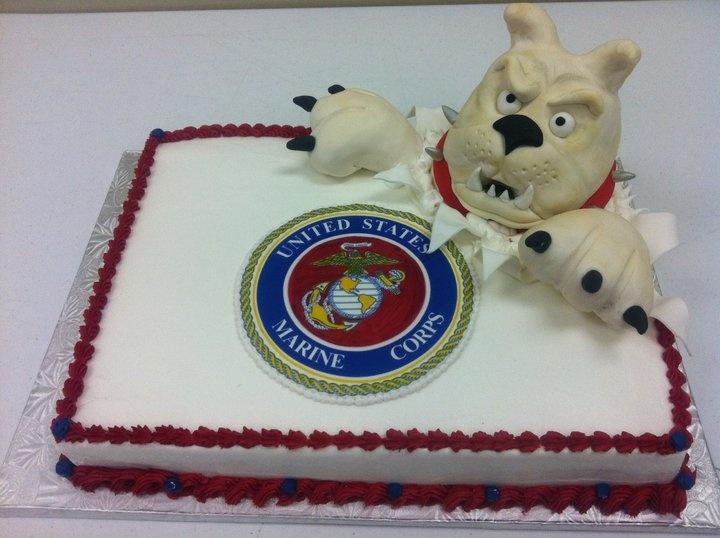 11 Marine Corps 1 2 Sheet Cakes Photo Us Marine Corps Cake Marine