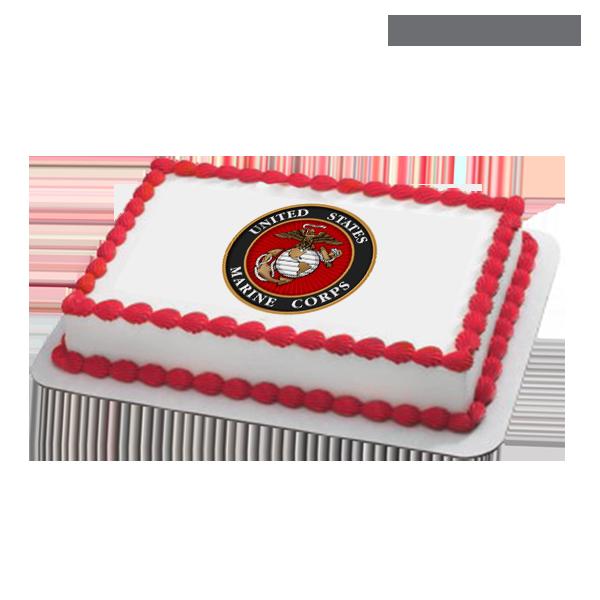 Prime 11 Marine Corps 1 2 Sheet Cakes Photo Us Marine Corps Cake Personalised Birthday Cards Akebfashionlily Jamesorg