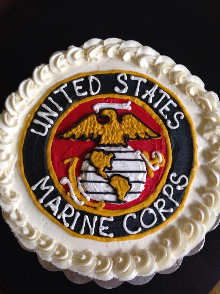 Tremendous 11 Marine Corps 1 2 Sheet Cakes Photo Us Marine Corps Cake Birthday Cards Printable Trancafe Filternl
