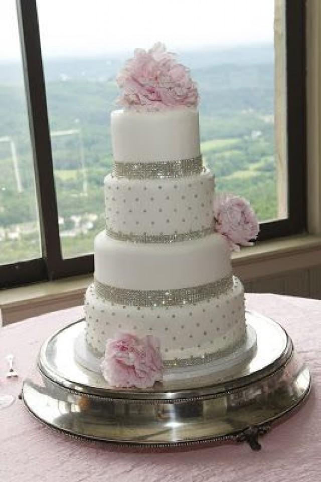 9 Bedazzled Wedding Cakes Photo - Silver Bling Wedding Cake, Blinged ...